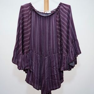 American Eagle's Don't Ask Why Purple Romper